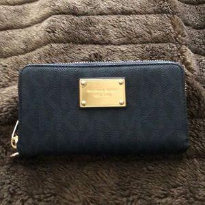 Michael Kors Leather Navy Wallet